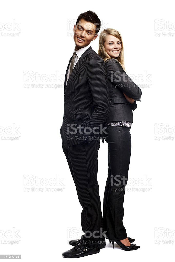 young business couple stock photo