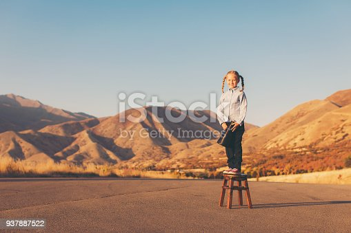 istock Young Business Girl with Megaphone 937887522