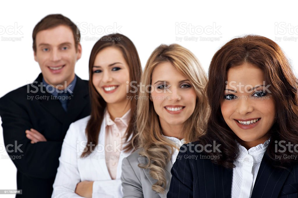 Young business group royalty-free stock photo