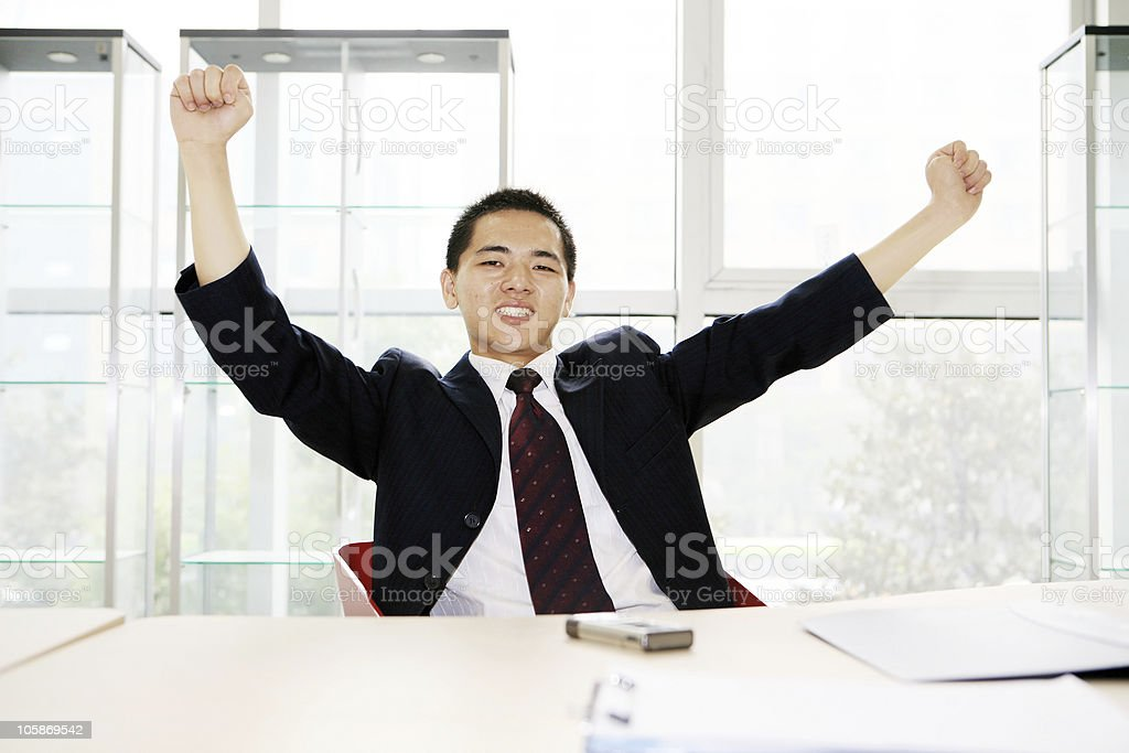 young business in office royalty-free stock photo