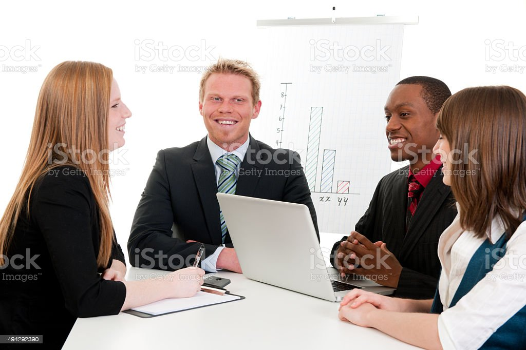 Young Business Interns stock photo