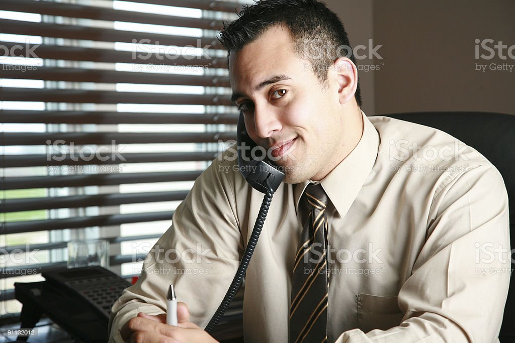 Young business man at work royalty-free stock photo