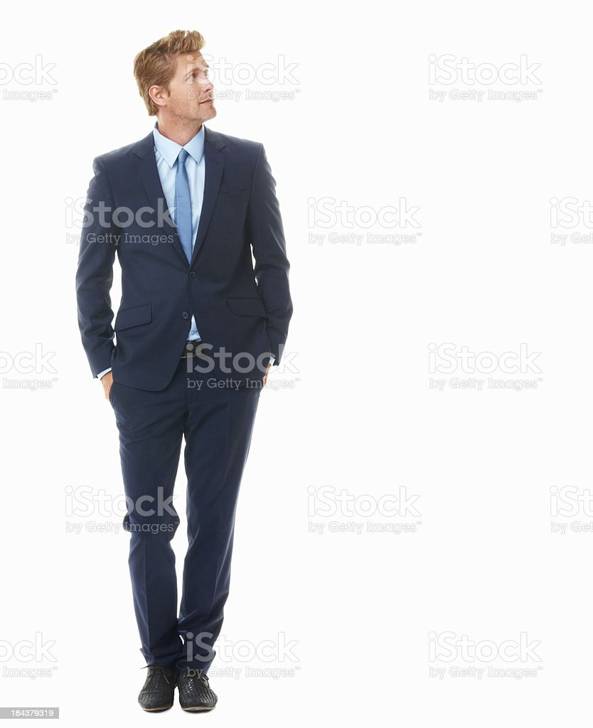 Young business man looking away stock photo