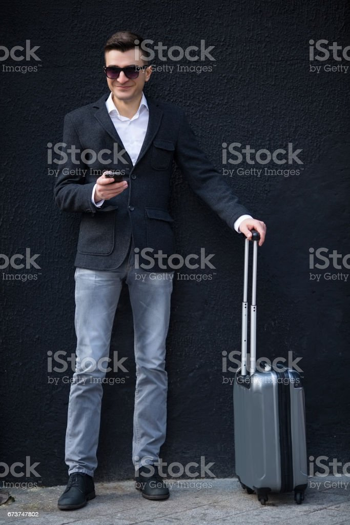 Young business man outdoors royalty-free stock photo