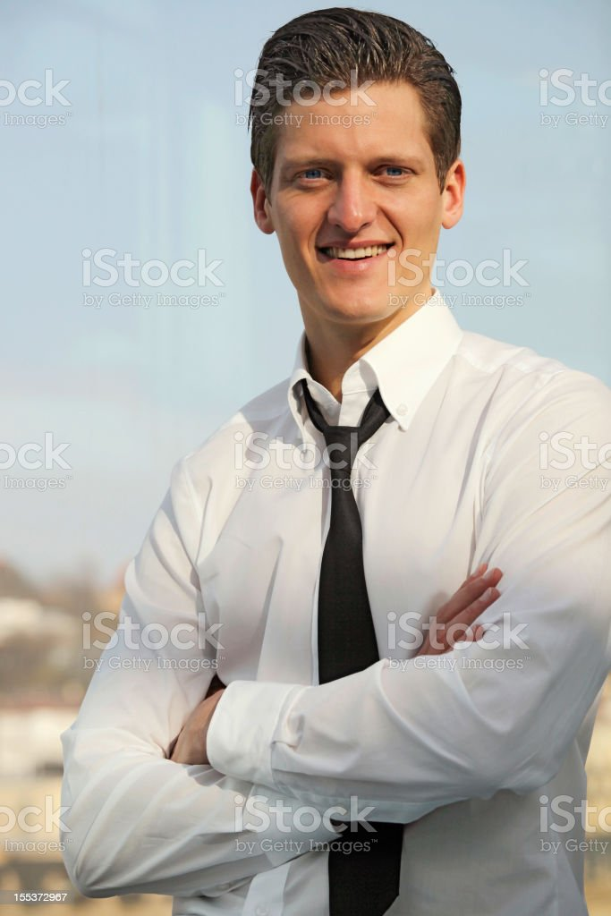 Young business man portrait royalty-free stock photo