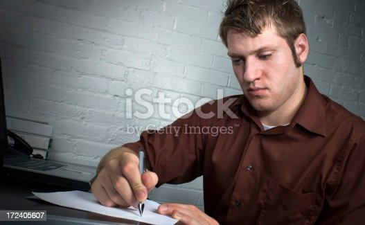 947303582 istock photo Young Business Man Signing 172405607