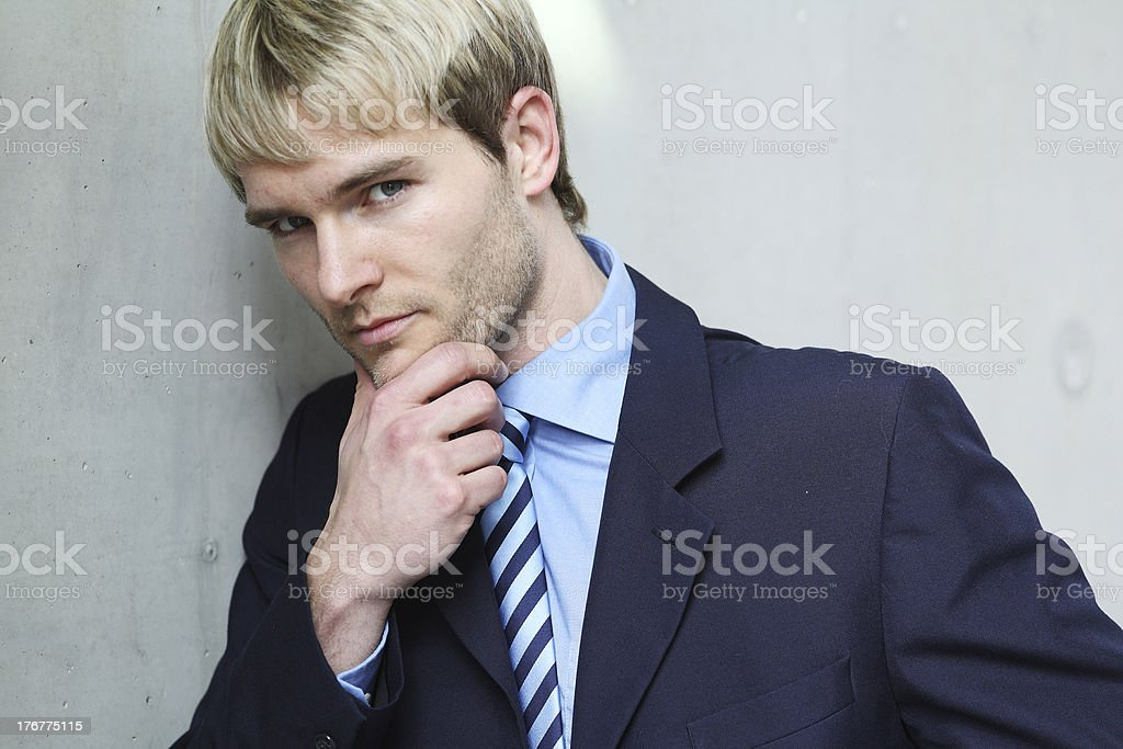 young business man thinking royalty-free stock photo