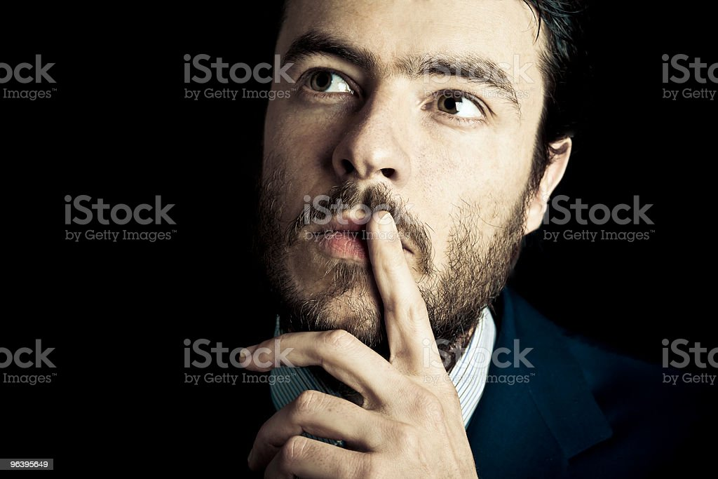 Young Business Man Thinking Portrait - Royalty-free 30-34 Years Stock Photo