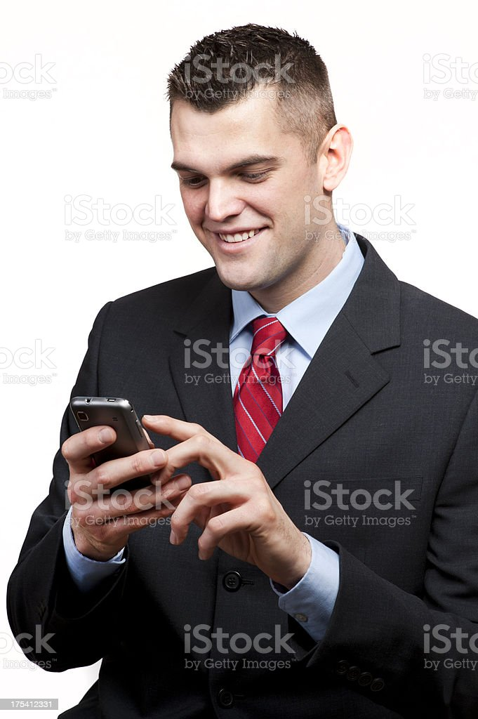 Young Business Man with a Smart Phone royalty-free stock photo