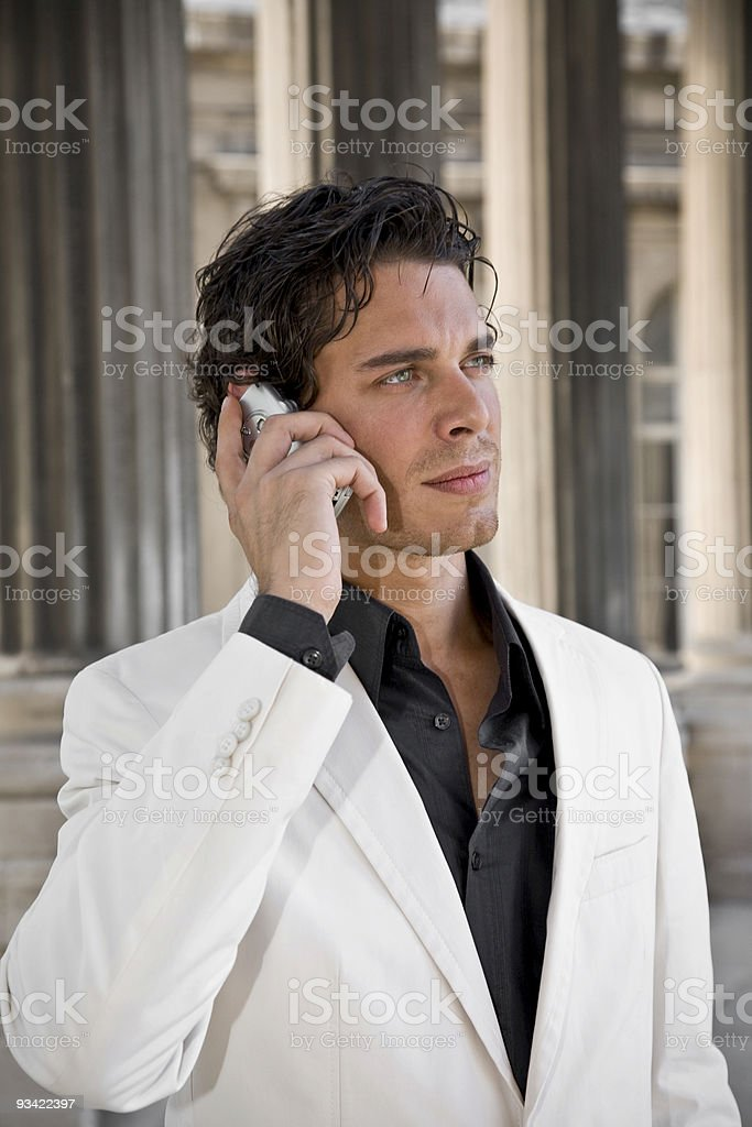 young business man with mobile phone royalty-free stock photo