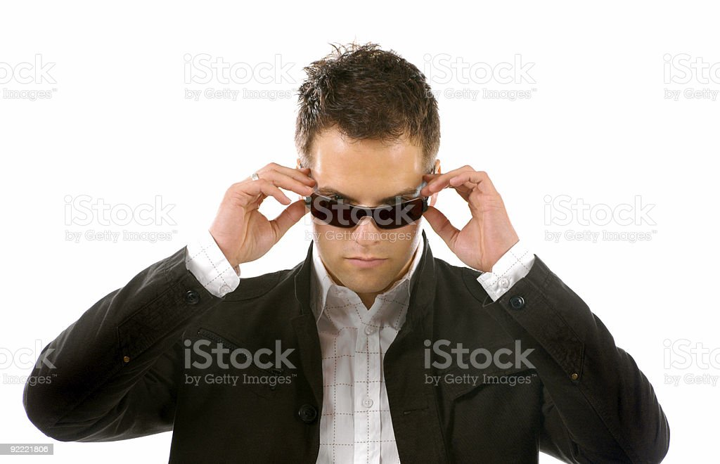 Young Business Man With sunglasses royalty-free stock photo