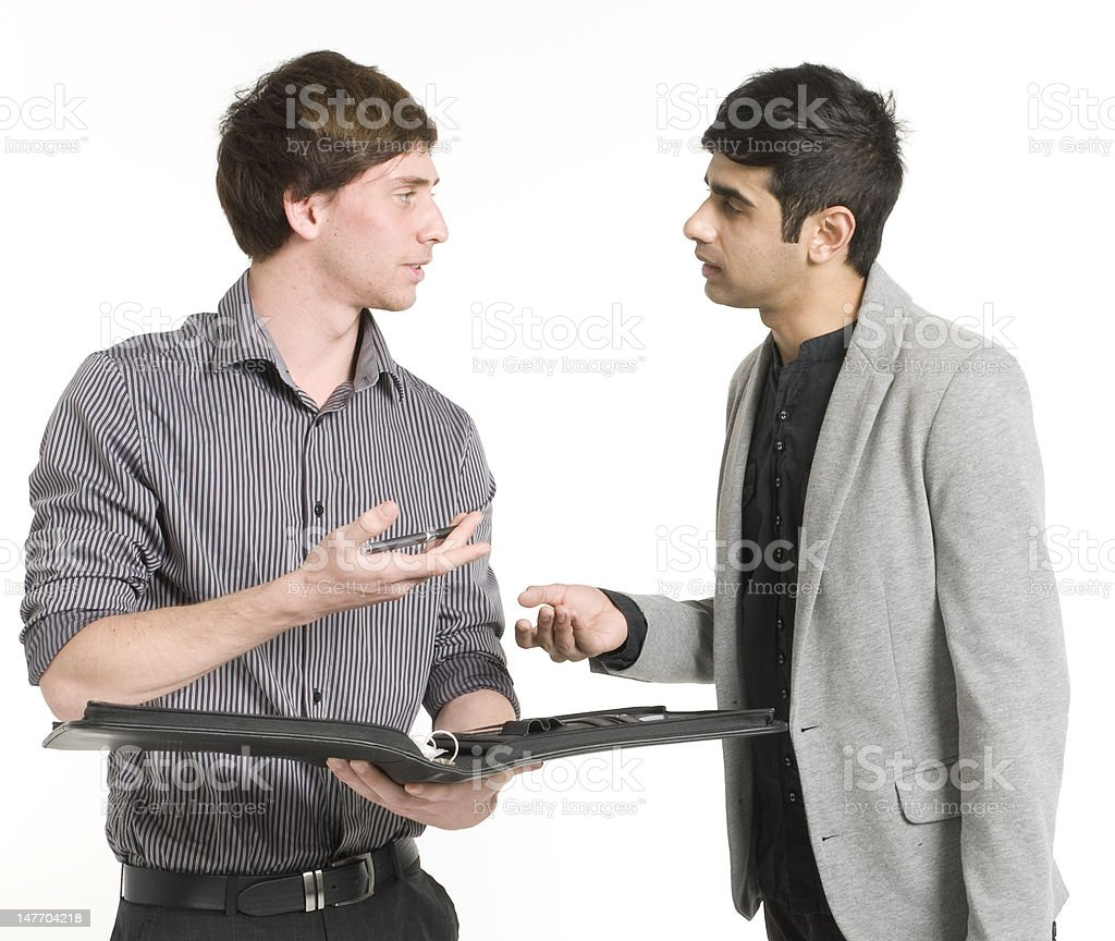 Young Business Men  Talking royalty-free stock photo