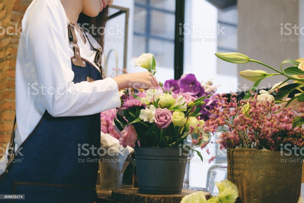 Confident Young Business Owner Flower Shop Store Florist Botany...