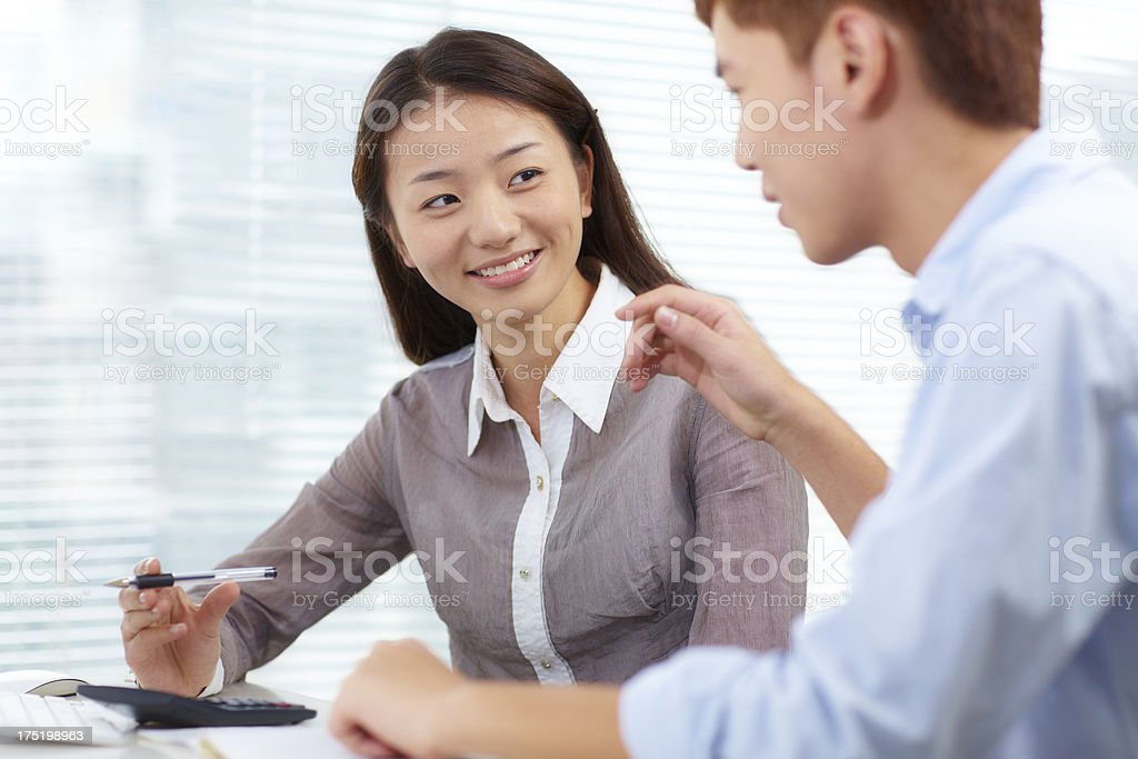 young business people discussion together royalty-free stock photo