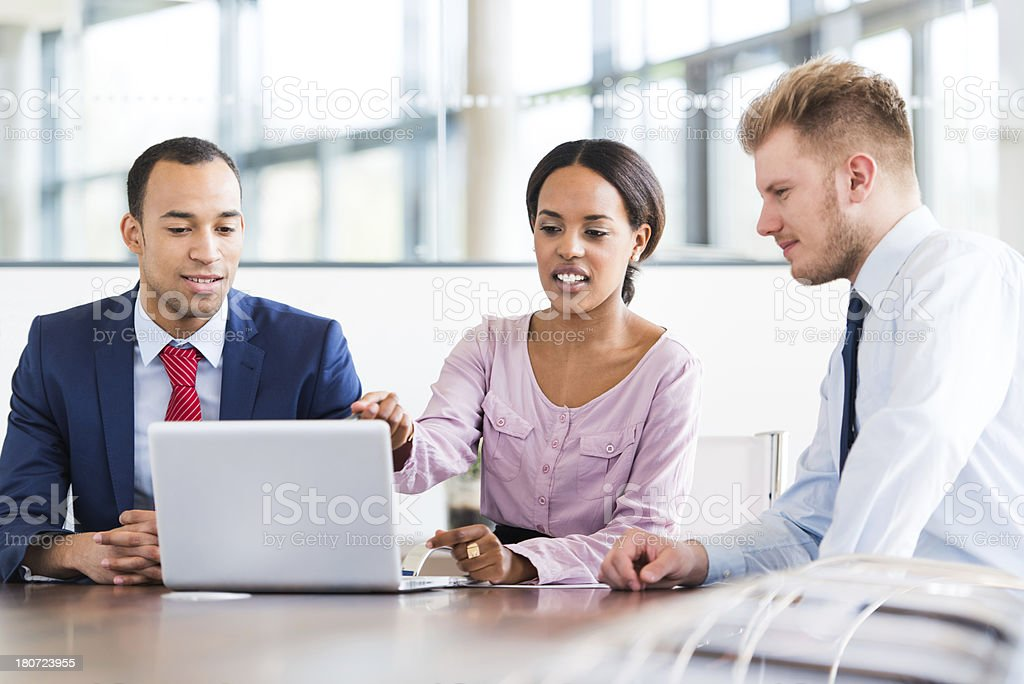 Young Business People In Office royalty-free stock photo