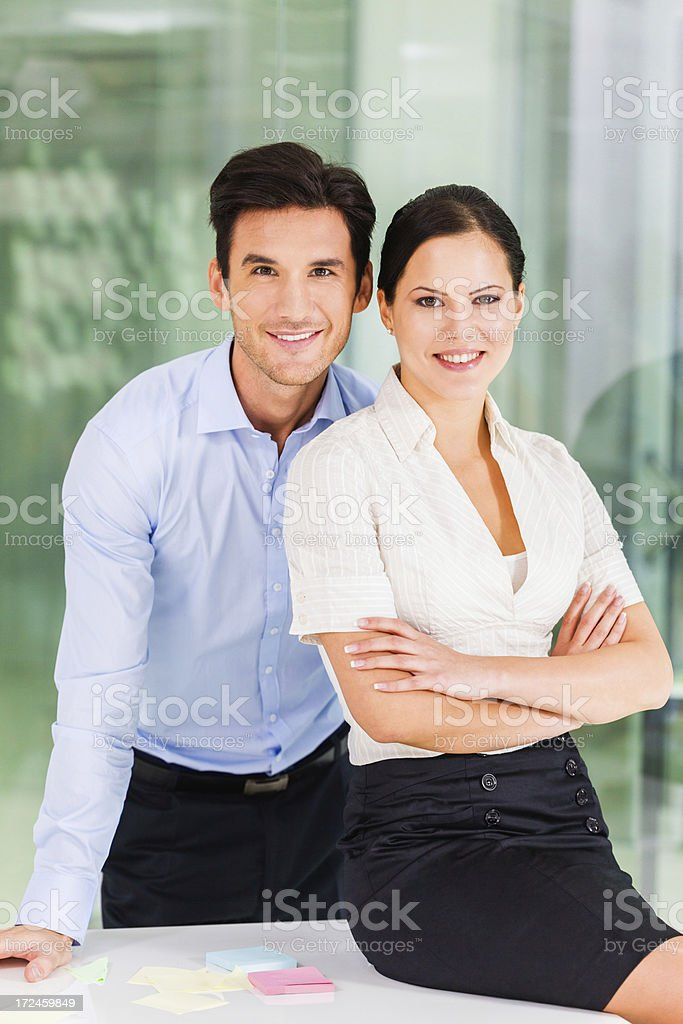 Young business people in the office royalty-free stock photo