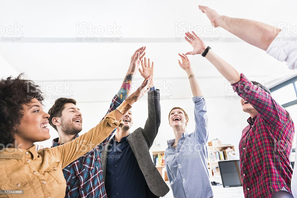 Young Business People Showing Team Spirit royalty-free stock photo