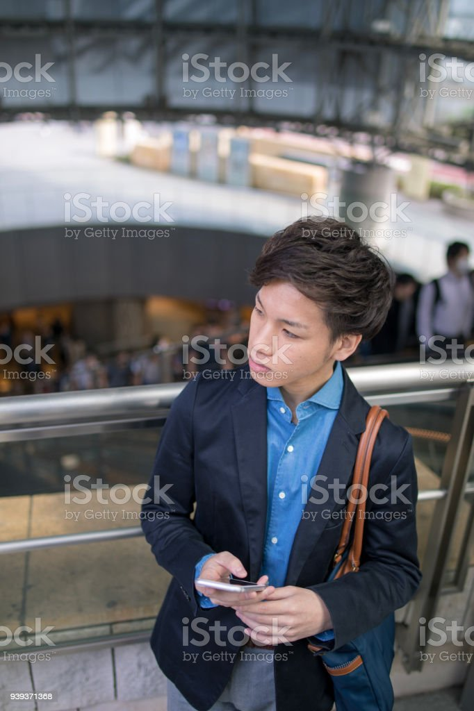 Young business person waiting for someone