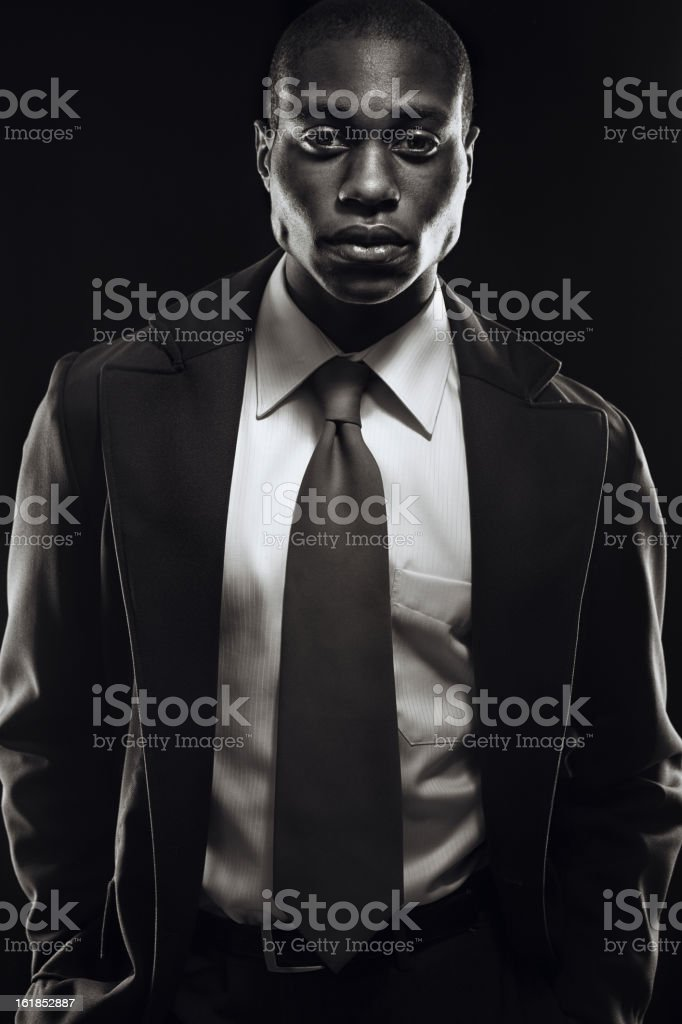 Young Business Professional Black and White stock photo