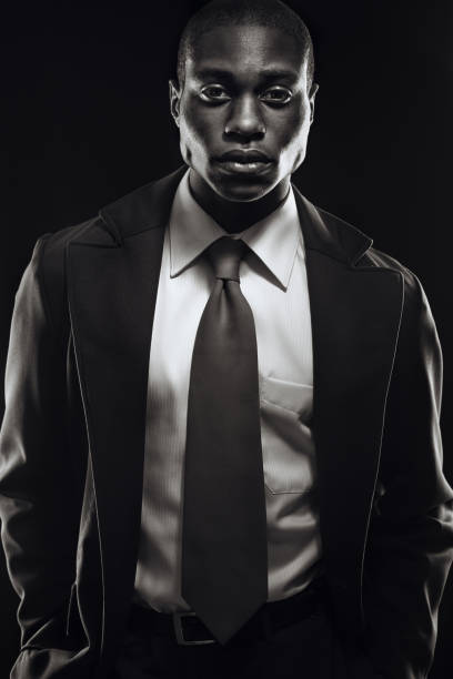 young business professional black and white - high contrast stock pictures, royalty-free photos & images
