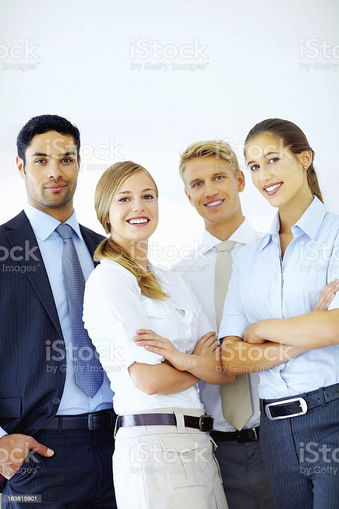 Young business professionals royalty-free stock photo