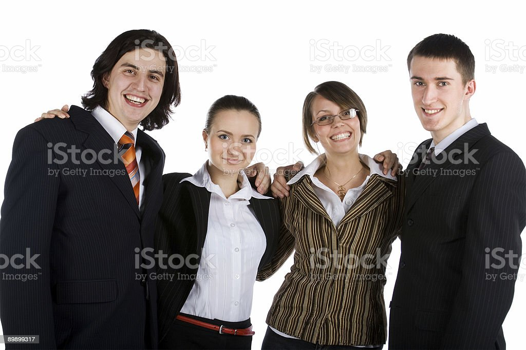 young business team royalty free stockfoto