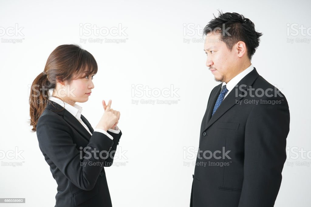 Young business woman and her tutor royalty-free stock photo