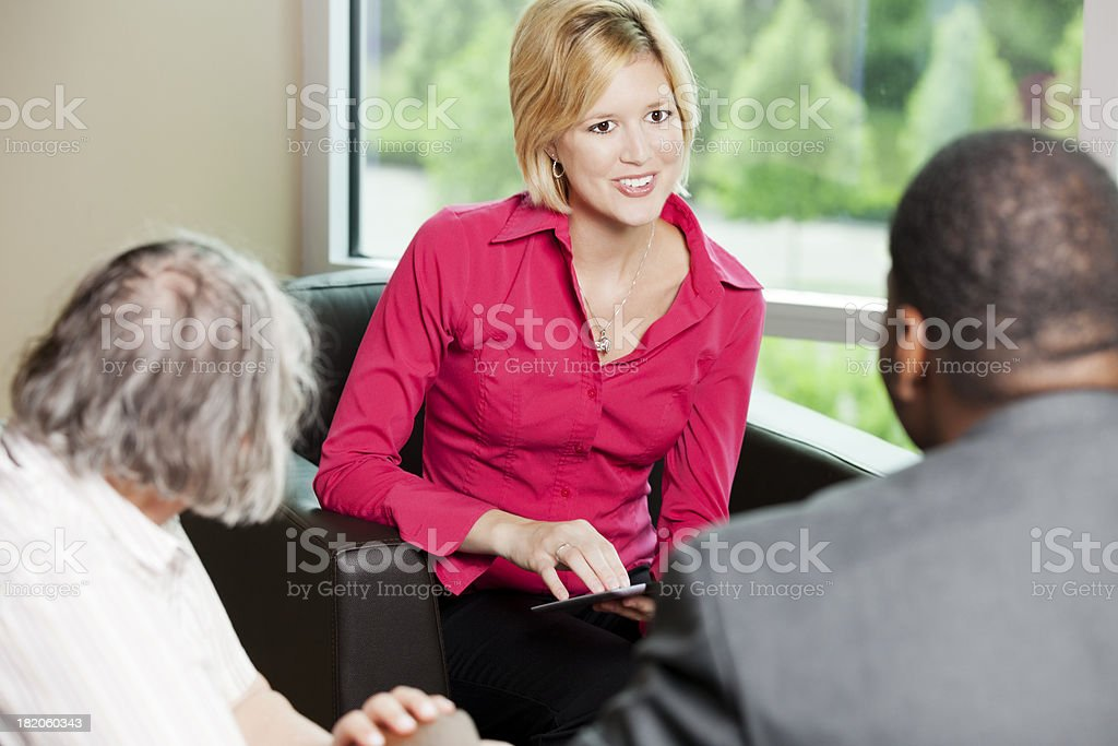 Young business woman during consultation royalty-free stock photo
