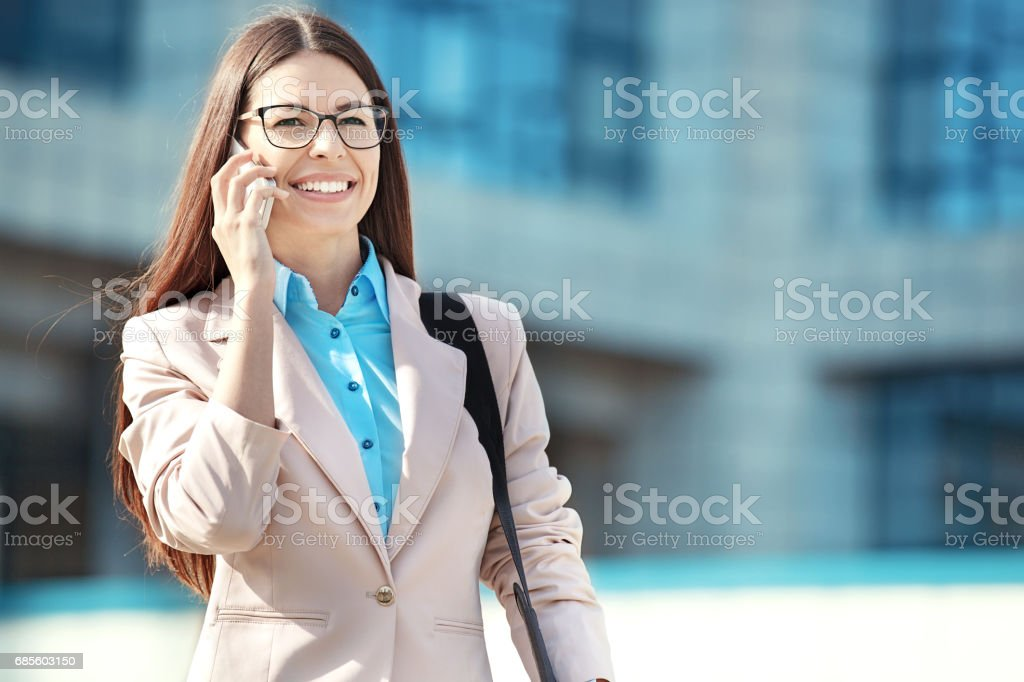 Young Business Woman Outdoors 免版稅 stock photo