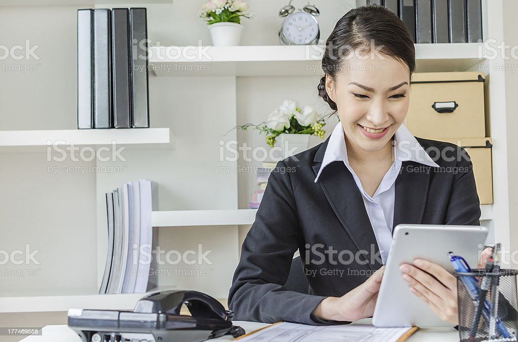 Young business woman royalty-free stock photo