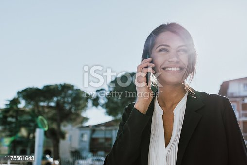 Young business woman portrait set outdoor