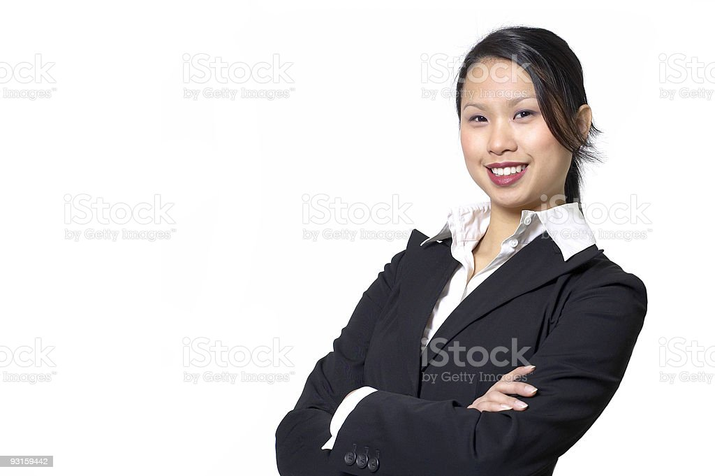young business woman smiling royalty-free stock photo