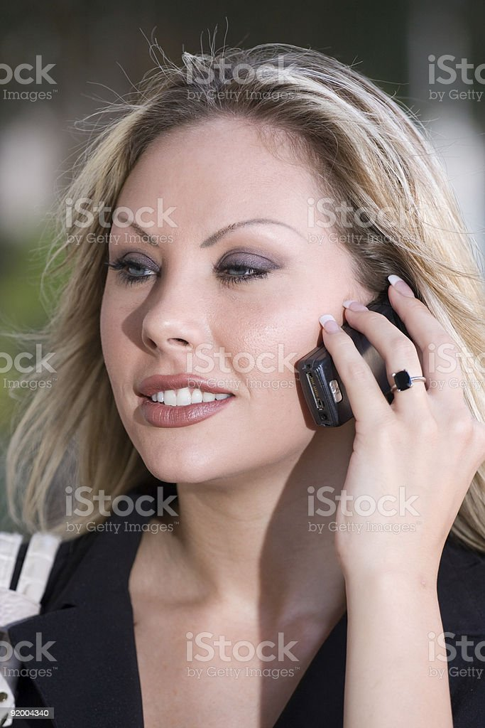 Young Business Woman Talking royalty-free stock photo