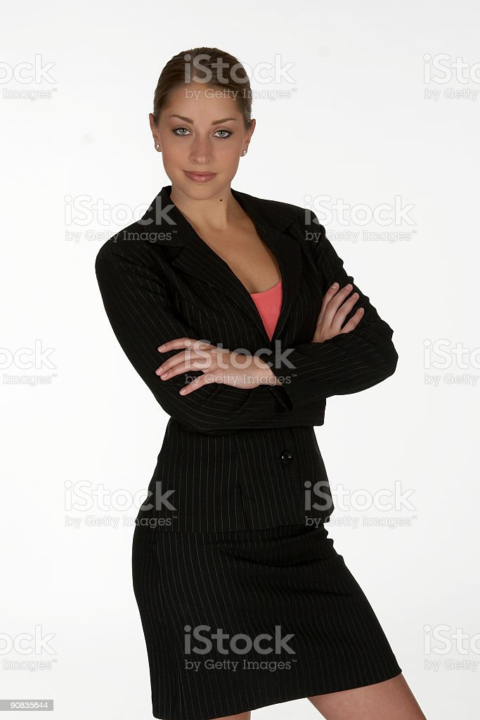 Young Business Woman with Arms Folded stock photo