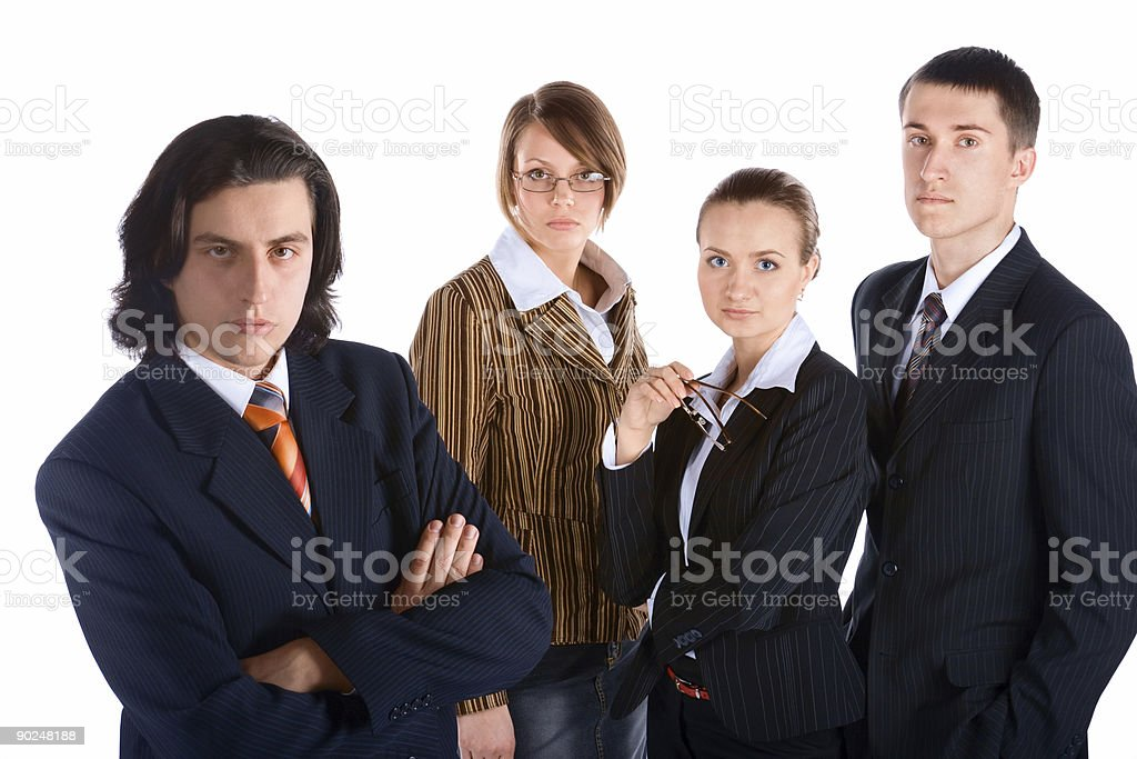 young businessman and his purposeful business team royalty-free stock photo