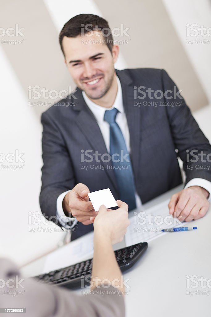 Young businessman at the interview royalty-free stock photo