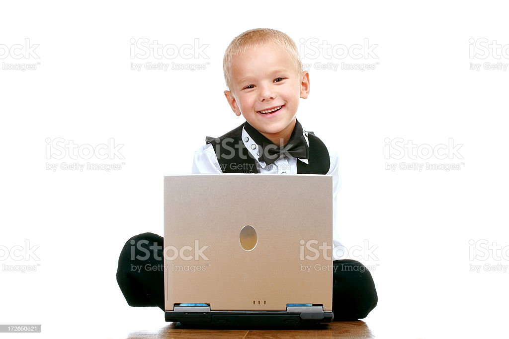 Young businessman at work royalty-free stock photo