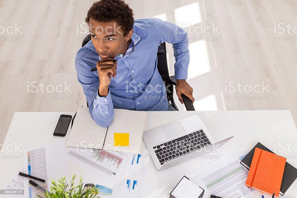 Young businessman at work royaltyfri bildbanksbilder