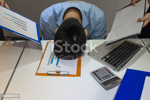 istock Young businessman can't stand working under high pressure any more 495668252