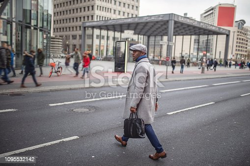 Successful African-american businessman enjoying his time in Berlin