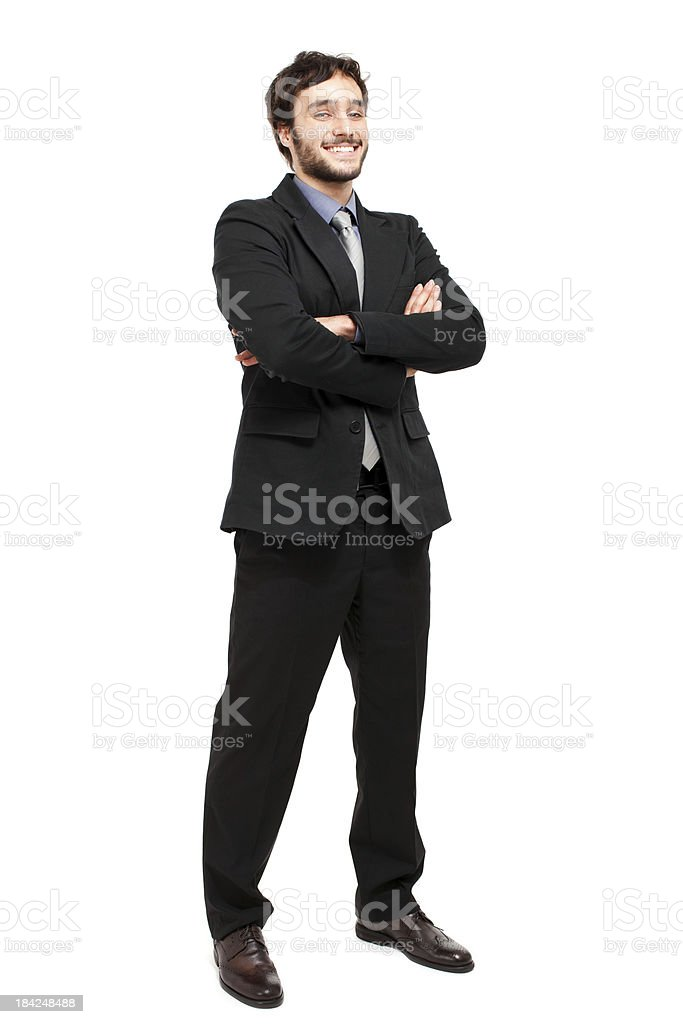 Young businessman full length stock photo