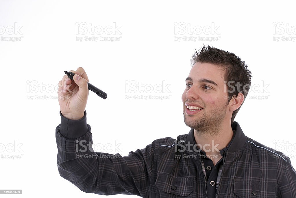 Young businessman, full of thoughts royalty-free stock photo