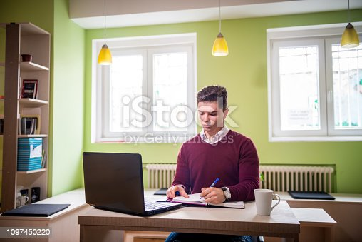 921587490 istock photo Young businessman in office 1097450220