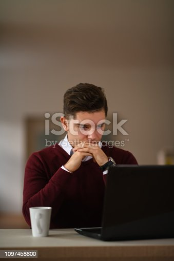 921587490 istock photo Young businessman in office 1097458600