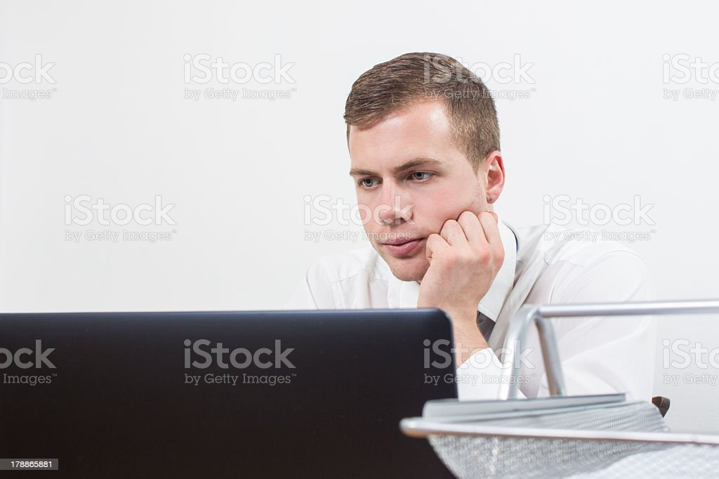 Young businessman in office royalty-free stock photo