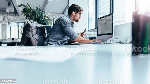 Young businessman in office working on computer picture id872006502?b=1&k=6&m=872006502&s=612x612&h=pif097 vofrrgpbb3xg6tovoon8 k9dhndai3hsmrwa=