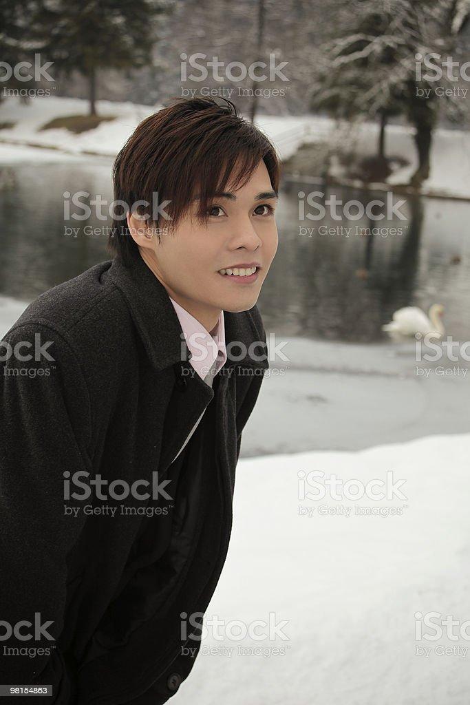 젊은 남자 사업가 파크 royalty-free 스톡 사진