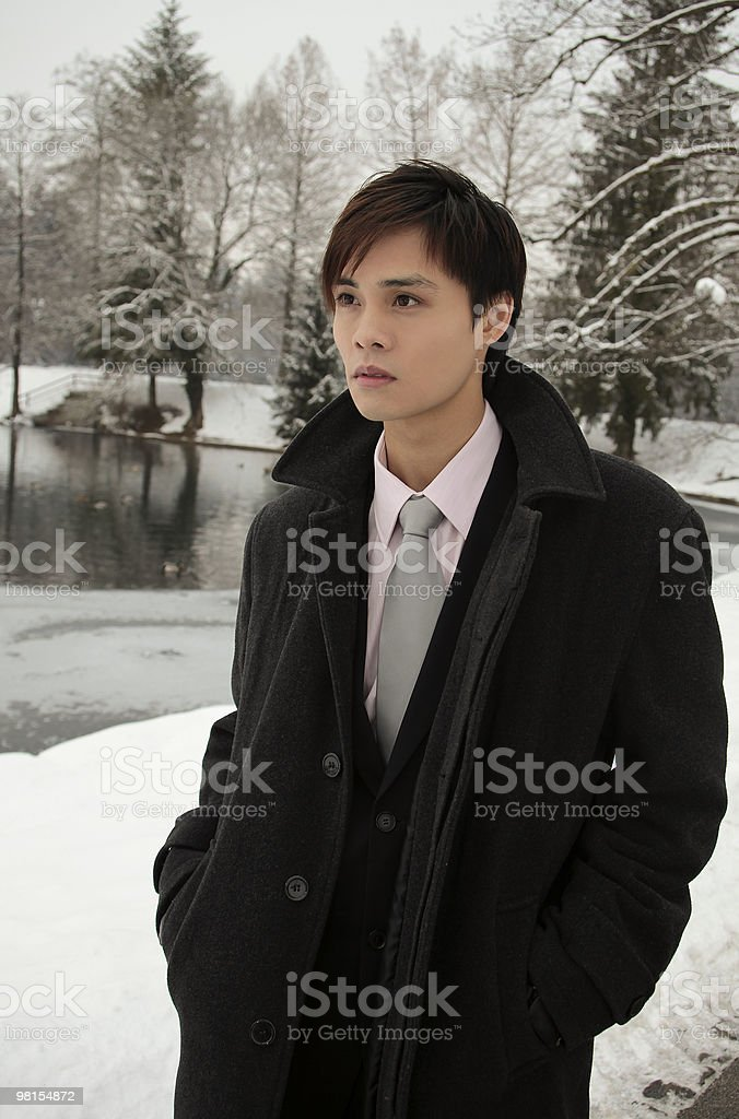 Young Businessman in the Park royalty-free stock photo