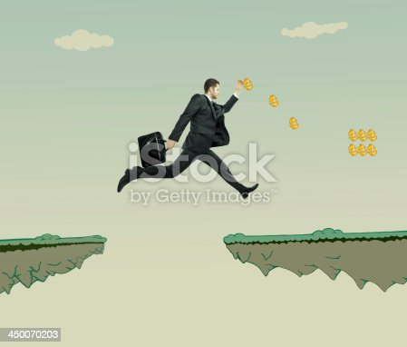 istock young businessman jumping 450070203