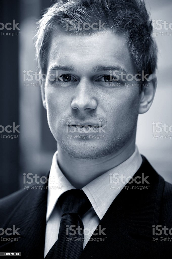 Young businessman looking confidently royalty-free stock photo